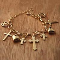 Sunshine jewelry store fashion european sideways cross bracelet S109 ( $10 free shipping )