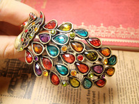 Vintage Crystal Peacock Bangle Palace Style Phoenix Bangle Bracelets Crystal Bangles Wholesale Jewelry Freeshipping SZ4