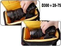 Scolour Bag For Camera of DSLR NIKON D4 D800 D7000 D5100 D5000 D3200 D3100 D3000 D80free shipping &wholesale