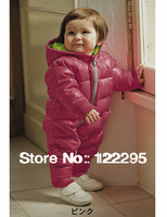 In stock !  New Arrive Retail fashion baby romper for winter cotton padded one piece children kids jumpsuit 6m-2yrs 2color