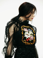 Top Grade 100% Quality! 2013 Women Rose Embroidery Shirt