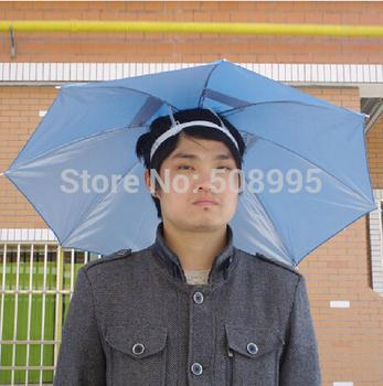 1p Multifunction Fishing Head Umbrella Head Umbrellas Fishing Hat Anti-UV Rain Umbrella Hot sale Anti-Sun Tool