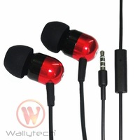Wallytech Free Shipping For Samsung Galaxy S4 Earphone For iPhone5 Earphone With Mic Metal Earphone Mix color (WHF-091)