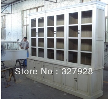 Glass combined  cabinet /solid wood wine cabinet/antique cabinet/Accent cabinet