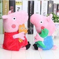 30CM Peppa pig plush doll Peppa and George Ballerina Peppa and Pirate Geogre Dolls toy
