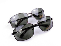 2013 New Mens Driving Sunglasses Metal Frame Polarized Sun Glasses Black And Gungrey WIth Glasses Bag Glasses Cloth 20pcs/lot