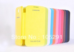 11 Colors For Samsung Galaxy SIV S4 i9500 Back Cover Flip Leather Case Battery Replacement housing case 1Pcs/lot Retail Box(China (Mainland))