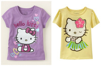 wholesale 6pcs/lot 18M~6T  new baby children clothing summer cotton short sleeve cartoon  casual girl T shirt