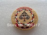 Poker Card Guard Casino Coin ------ Heart Coin     100pieces/lot
