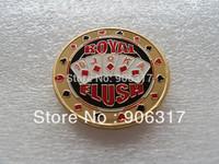 Poker Card Guard Casino Coin ----Royal Flush   100pieces/lot