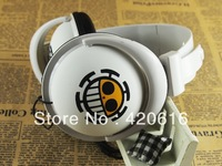 One Piece Trafalgar Law Pirate Flag Headphone MP3 MP4 PC Earphone Earbuds Stereo Free Shipping