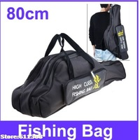 Durable 80cm 3-Layer Canvas Fishing Pole Hard Case For fishing Rods Fishing Tackle Carrying Bag Color Assorted