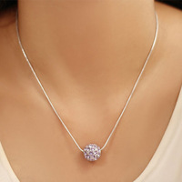 Austrian Crystal Pendant Necklace Charm Bridal Jewelry 18K White Gold Plated  Fashion Accessories For Women 5927