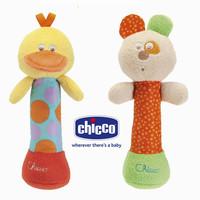 Free shipping Chicco  kids baby soft toy animal handbells rattles multifunctional baby animal handbell toys