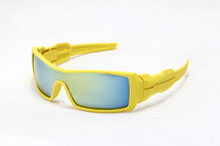 Cheap Oil Rig Sunglass Yellow Frame Yellow Blue Lens  men classic sports sun glasses ! Freeshipping