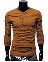 2013 Men's slim long sleeve t shirts, men long sleeve t shirts ,M L XL XXL Free Shipping