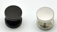 Titanium Circle Sud Earring Fashion Hiphop Men Back Earrings Dumbbell Black Steel Wholesale DS2076 Free Shipping