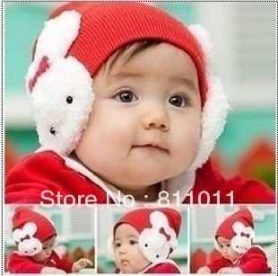 10pcs/lot Free Shipping Baby Boys Girl Winter Protective Ear Cap Animal Rabbit Crochet Beanies Hat