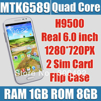 feiteng s4 smart phone h9500 5.0 inch 1280*720 ips quad core android 4.2 mtk6589 ram 1gb rom 8gb