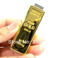 Full Capacity Gold Shape Usb Flash Disk Drive 4GB 8GB 16GB 32GB 64GB Memeory Free Shipping