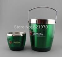Free Shipping of 1.35L Double Wall Ice Buckt, metal ice bucket, bucket