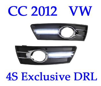 High Quality!! CC 2012 2013 VW  Passat Running Lights , Car LED Daylight DRL 4S Shop Fog Lamp , 2pc , CE EMARK Free Shipping