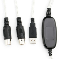 Free Shipping MIDI USB Cable Converter to PC Music Keyboard Adapter Retail