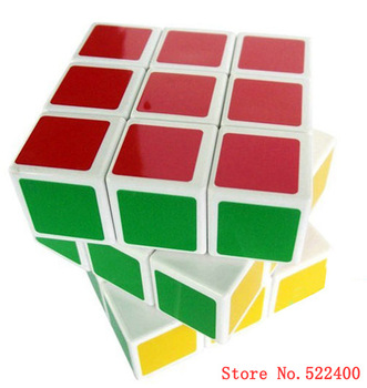 Free Shipping 2PC/Lot 3x3x3 magic cube stickerless cube full color  professional magic cube adult child puzzle magic cube toy