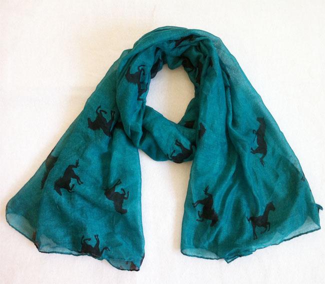 2013 New fashion ladies' viscose scarf,Free shipping,long Women shawl,horse printing,viscose hijab,women stoles,head wraps(China (Mainland))