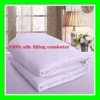 150*210cm Mulberry silk summe comforter/summer quilt 1kg filling