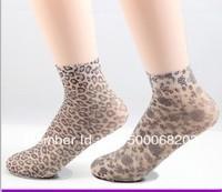Free shipping!!! 2013 fashion cute stocking socks velvet Jacquard designs sexy leopard hot sale short silk socks