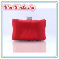 New Women's Hand-woven Handbag. Cross-shaped Silk Chain Messenger Evening Bag. Wild Diamond Bridal Clutch Free Shipping