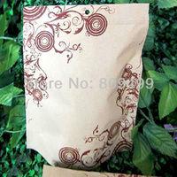 50pcs 18x26+4cm printing Kraft paper Composite aluminum zipper top Damp-proof bag freeshipping