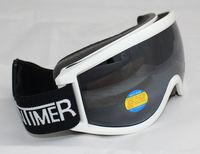 Free Shipping Double Lens Polarized Anti Fog Windproof Ski Goggles UV400 Protection Europe Style Snow Glasses White  Frame