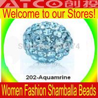Lose money Free Shipping 1000pcs/lot Crystal DIY Clay Spacer Shamballa Beads Pave Rhinestone Disco 10mm Balls Beads XX202