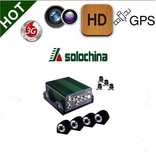 360 degrees full view 3G mobile DVR recorder 4 Channel realtime vehicle with GPS(China (Mainland))