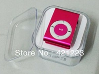MINI clip MP3  with TF card Slot with cable+earphone,with retail packaging Free shipping