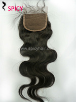 """DHL Free shipping,High quality cap 4""""*4""""top lace closure hair,Can be dyed,Brazilian body wave hair virgin top lace closure"""