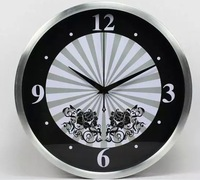 12 inch ultra fashionable sitting room watch machine core mute wall clock rural creative clock