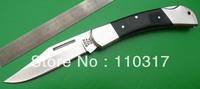 Folding knives F0253, pocket knives,nickel silver bolsters,liners&rivets,black wood handle,knife lanyard hole,free shipping