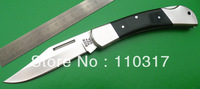 Folding knives F0253, pocket knives,nickel silver bolsters,liners&rivets,black wood handle,knife lanyard hole,free shipping