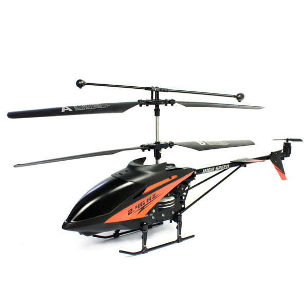 New 2.4GHz 3.5CH IR R/C Remote Control Alloy Metal Large Helicopter With Gyro Black/Red Free shipping &wholesale(China (Mainland))