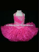 Halter Top Little Rosie Cupcake Dress Lovely Little Rosie hot pink Glitz Toddler Pageant Dress ZW27