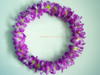 Party/Christmas Supplies Hawaiian Flower Lei Garland/Hawaii Wreath Cheerleading Products  10pcs/lot SJ1308