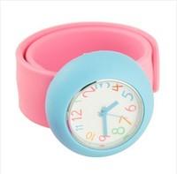 Free shipping hot sale children Slap watch,silicone watch Free drop W042
