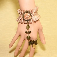 Min.order is $15 (mix order) Fashion Lace retro flower butterfly bow bracelets S5406