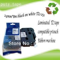 puty tze tape 24mm black on white p touch tape tze 251 TZ-251