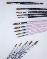 Wholesale+New Design 14#- Pure kolinsky professional wave flower painting acrylic brush Free Shipping