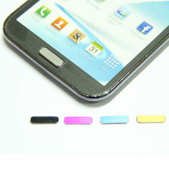 Metal Aluminum Home Button Sticker for Samsung Galaxy Note 2/N7100(Golden+Silver+Black+Pink+Blue)