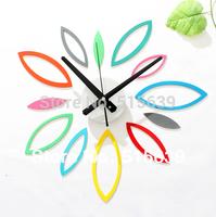 DIY Fun Multicolored Flower Wall Clock Fashion Creative Watch 3D Stickers